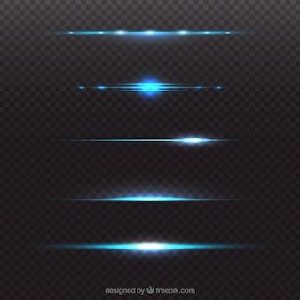 Collezione blu divisore di lens flare