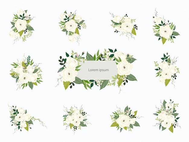 Collezione bouquet floreale di nozze