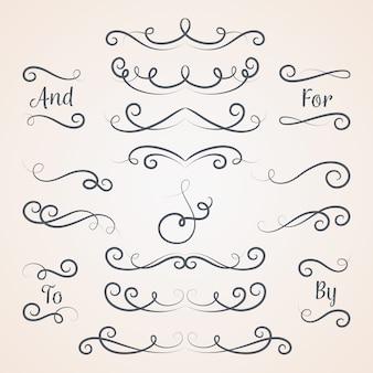 Collezione calligrafica di ornamenti nuziali