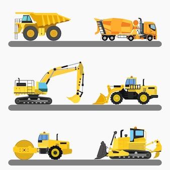 Collezione camion costruzione