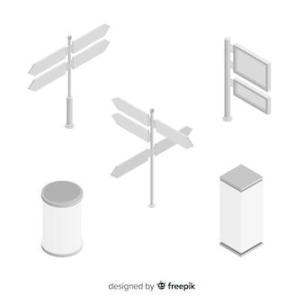 Collezione cartellone isometrica