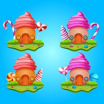Collezione casa dolce di caramelle