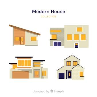 Collezione casa moderna piatta