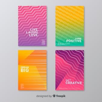 Collezione copertina colorata astratta