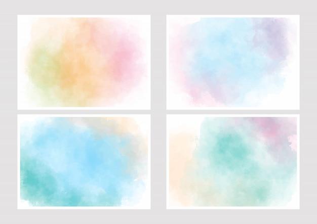 Collezione copertina gradiente acquerello