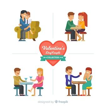 Collezione coppia san valentino piatto