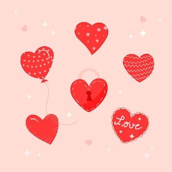 Collezione cuore disegnato a mano