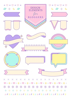 Collezione decorativa per i blogger