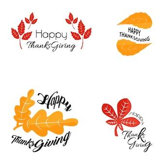 Collezione del logo del ringraziamento