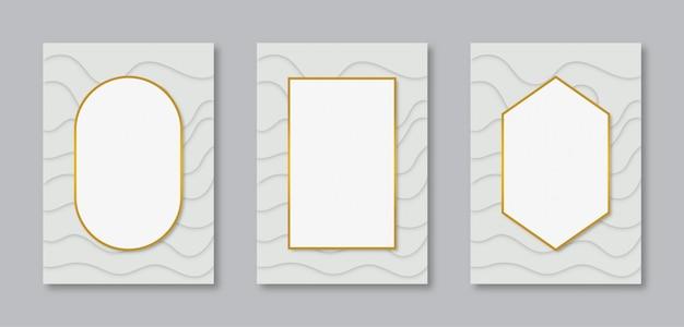 Collezione design del telaio verticale con spazi bianchi