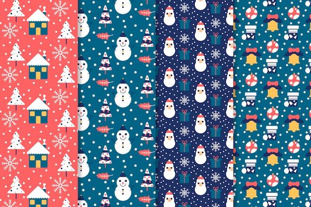 Collezione design piatto motivo natalizio