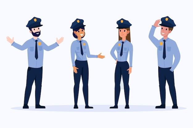 Collezione di agenti di polizia