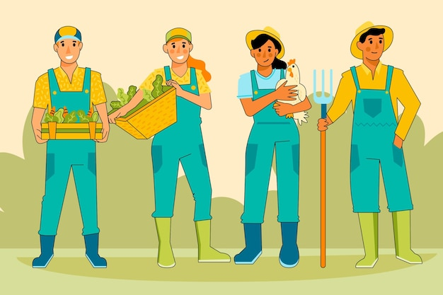 Collezione di agricoltori illustrazione