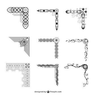 Collezione di angoli ornamentali