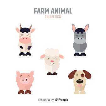 Collezione di animali da fattoria