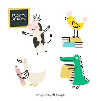 Collezione di animali dell'evento scolastico