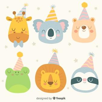 Collezione di animali di compleanno