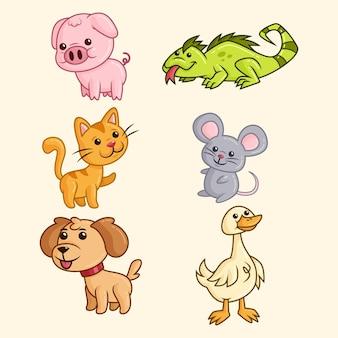 Collezione di animali diversi