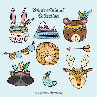 Collezione di animali etnici