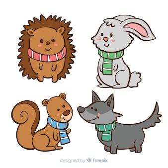 Collezione di animali invernali
