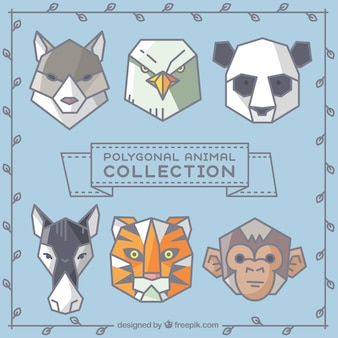 Collezione di animali poligonale