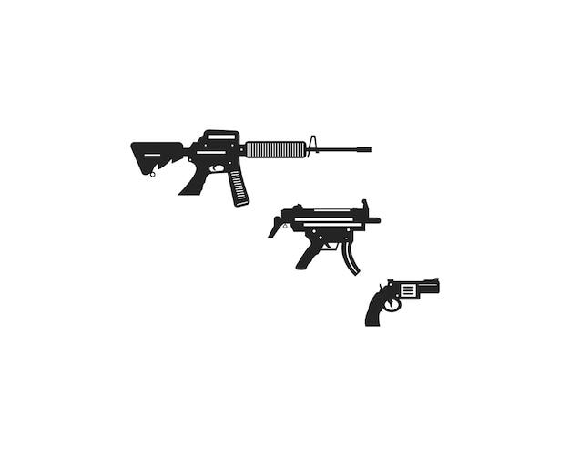 Collezione di armi militari piatte