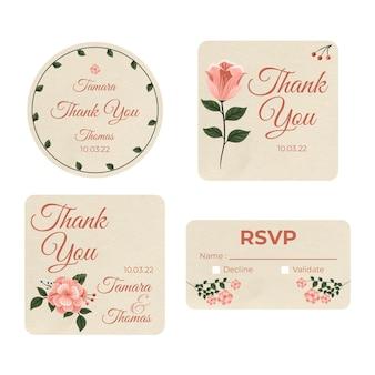 Collezione di articoli di cartoleria per il matrimonio