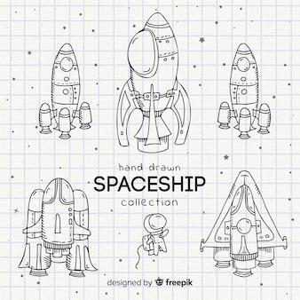 Collezione di astronavi lineari