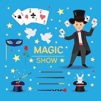 Collezione di attributi ed elementi del mago