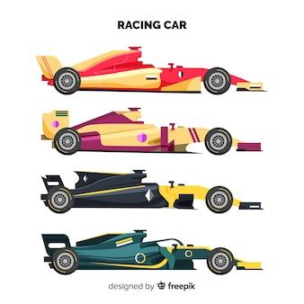Collezione di auto da corsa di formula 1 moderna