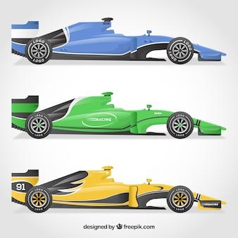 Collezione di auto da corsa di formula 1