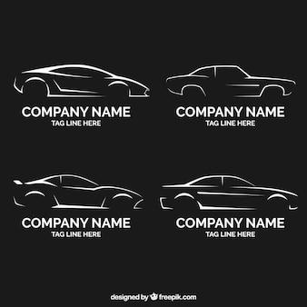 Collezione di auto logo piatto