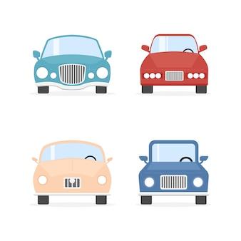 Collezione di automobili di colore del fumetto.