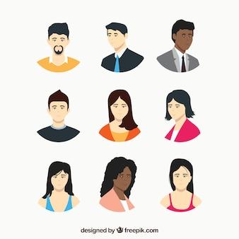 Collezione di avatar aziendali