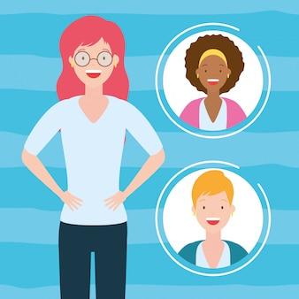 Collezione di avatar da donna