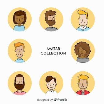 Collezione di avatar di cartoni animati