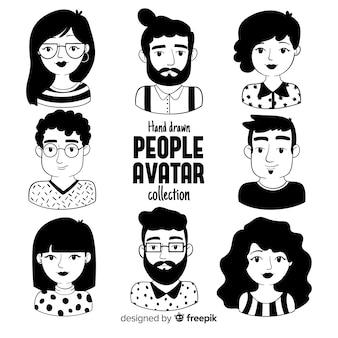 Collezione di avatar di persone dei cartoni animati