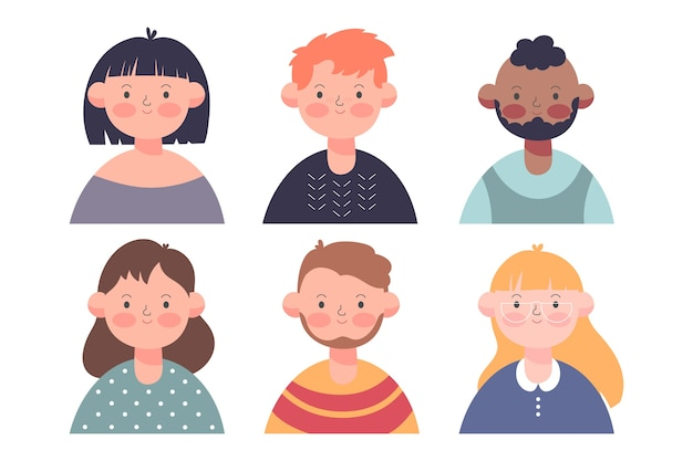 Collezione di avatar di persone