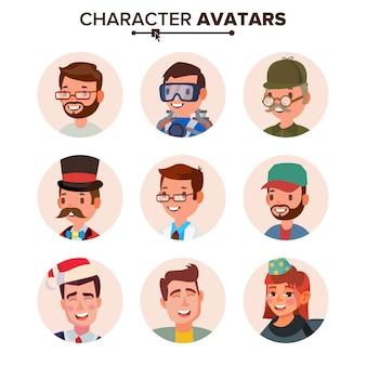 Collezione di avatar di persone.