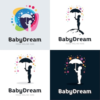Collezione di baby dream set design template