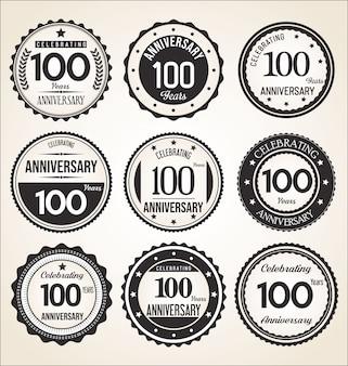 Collezione di badge anniversario