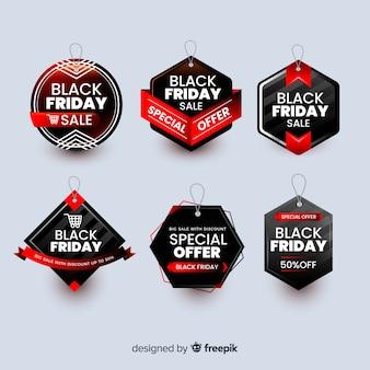 Collezione di badge banner venerdì nero
