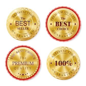 Collezione di badge d'oro best seller