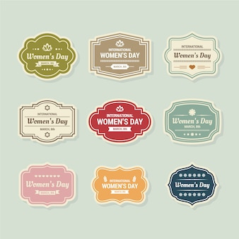 Collezione di badge da donna vintage