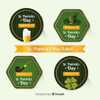 Collezione di badge del giorno di san patrizio