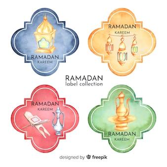 Collezione di badge del ramadan