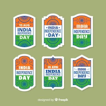 Collezione di badge dell'indipendenza dell'india