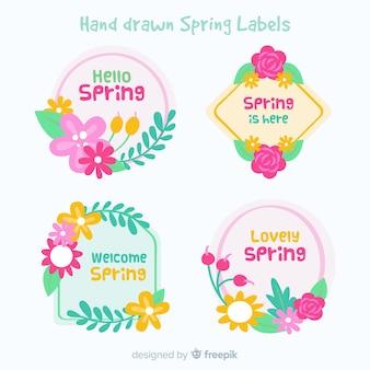 Collezione di badge di primavera
