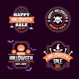 Collezione di badge di vendita di halloween