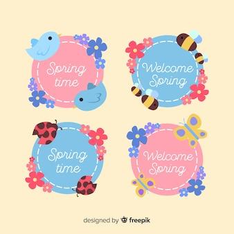 Collezione di badge di vendita di primavera